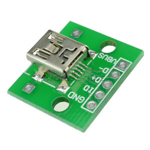 5 10pcs Mini Usb To Dip Adapter Converter For 2 54mm Pcb Board Diy Power Supply