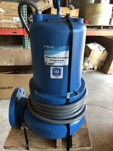 Goulds Ws5012d4 Sewage Pump 5hp 230 V 1phase 4 flange 550gpm 50 max Head new