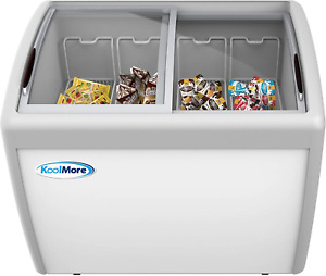 Koolmore Mcf 12c Commercial Ice Cream Freezer Display Case Glass Top Chest Fr