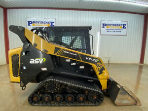 2018 Asv Vt 70 High Flow Cab Track Loader With A c And Heat