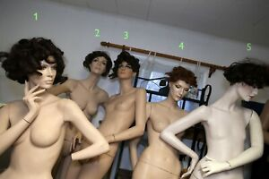 Rare Female Vintage Rootstein Mannequins Full Body Torso Realistic Standing
