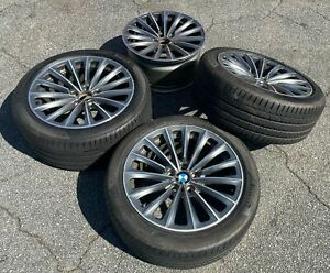 Staggered Set Of Bmw 2015 5 Series 3 Takeoffs Tires And Wheels And 1 Wheel