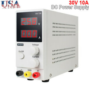 Us 30v 10a K3010d Mini Variable Regulated Adjustable Dc Power Supply For Lab Use