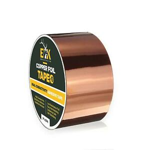 Copper Foil Tape With Conductive Adhesive For Guitar And Emi Shielding 2 X 33