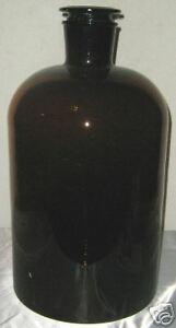 Glass Amber Lab Reagent Bottle Narrow Mouth 20l New For Lab Wine