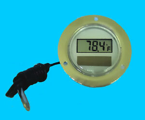 Solar Panel Thermometer W External Sensor Front Flange
