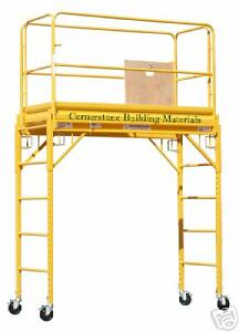 Mfs Scaffold Rolling Tower 29 X 6 Deck 6 High With Hatch Deck And Guard Rail