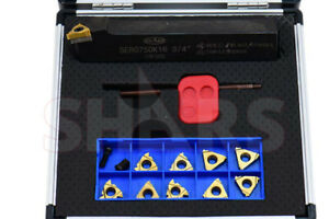 Shars 12 Pc 3 4 Un External Indexable Threading Tool Holder Inserts Set New
