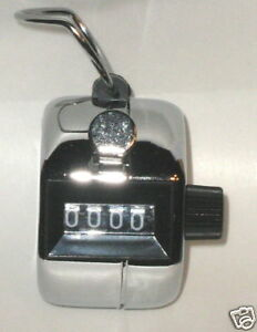 10 Metal Tally Counter Hand Golf Clicker Number Score