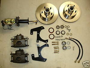 1953 1957 Corvette Front Disc Brake Conversion With Master Cylinder And Valve