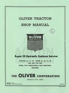 Oliver Super 55 Hydraulic Sytems Service Manual