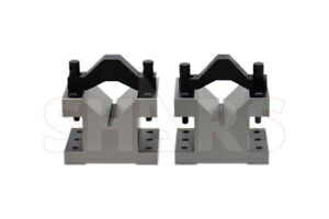 4 1 8 X 3 1 16 2 1 4 Capacity V block V Blocks Clamp Hardened Pair Set 0002 R
