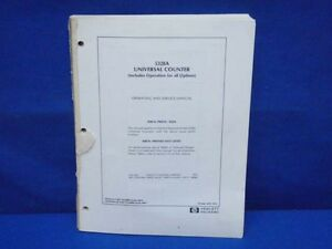 Hp 5328a Universal Counter Operating Service Manual