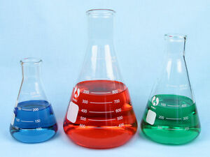 Erlenmeyer Flask Set 250 500 1000 Ml Flasks