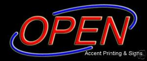 Open Swoosh Handcrafted Real Glass Tube Neon Sign