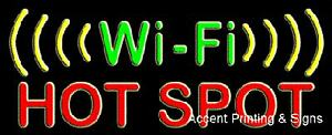 Wi fi Hot Spot Handcrafted Real Glass Tube Neon Sign