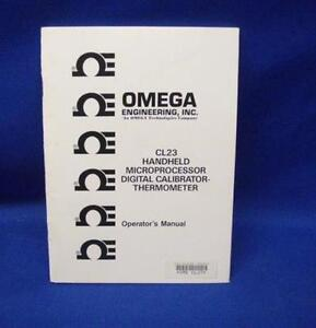 Omega Cl23 Calibrator thermometer Operator s Manual