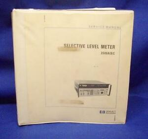 Hp 3586a b c Selective Level Meter Service Manual