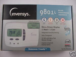 Robertshaw Invensys 9801i Thermostat Gas Electric Oil Heat Pump