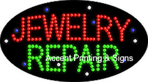 Jewelry Repair Flashing Animated Real Led Sign New