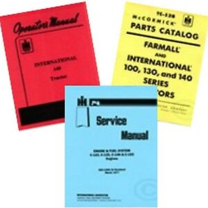 Farmall 140 Service Shop Operators Owners Parts Manual