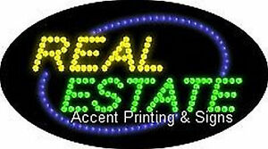 Real Estate Flashing Animated Real Led Sign