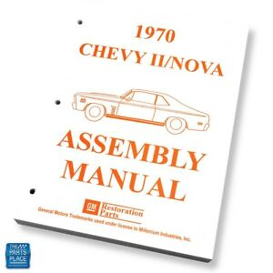 1970 70 Chevrolet Nova Assembly Manual Each