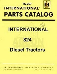 Farmall International 824 Tractor Parts Catalog Manual