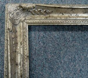 Picture Frame 16x20 Shabby Chic Antique Style Baroque Ornate Gray Silver 102s
