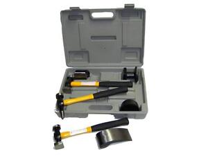 7 Pc Auto Body Fender Repair Tool Hammer And Dolly Set