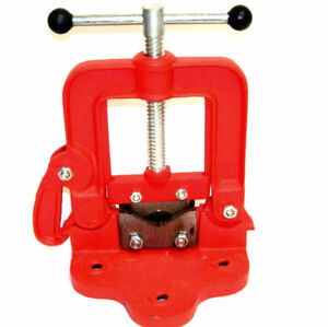 Portable Bench Pipe Vise Yoke Hinged Clamp On Type Plumbing Tools 3