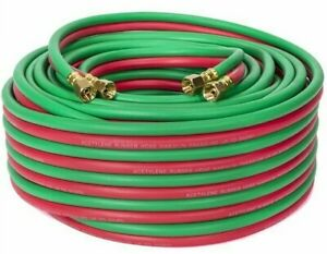 100 Ft 1 4 Id Oxygen And Acetylene Twin Welding Hose Victor Harris Compatible