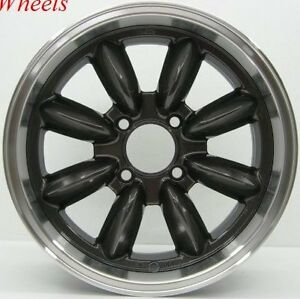 16x7 Rota Rb Rims 4x100 Gun Metal Wheels Exclusive For Mini Cooper