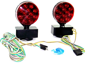 Magnetic Towing Light 12v Tow Trailer Lights Brake Tail Signal 12 Volt Kit Led
