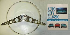 1958 Chevrolet Impala Steering Wheel Horn Ring Plus 1958 Chevy Parts Catalog