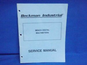 Beckman Bench Digital Multimeters Service Manual