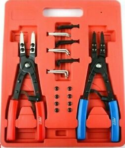 2 Pc 10 H D Ratchet Type Circlip Remover Installer Snap Ring Pliers Set