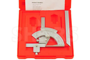 320 Universal Bevel Dial Protractor Stainless Satin New