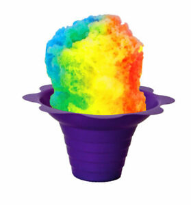 Flower Cups For Serving Shaved Ice Or Snow Cones 4 Oz Case Of 500 Purple And