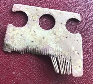 Authentic Ancient Lake Ladoga Viking Artifact Bronze Beard Comb Y47