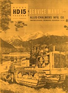 Allis Chalmers Hd15 Hd 15 Crawler Service Manual