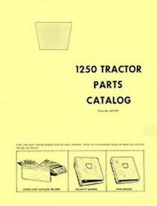 Oliver 1250 Tractor Parts Catalog Manual List