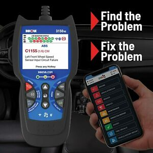 Iinnova 3150f Scanner Diagnostic Scan Tool Code Reader Obd2 Abs Srs Bluetooth