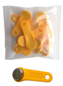 Yellow Keytabs Ibuttons For Ibutton Exaktime Job Site Time Clock