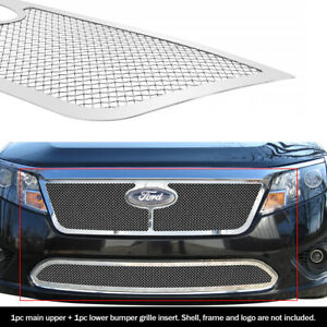 10 12 2011 2012 Ford Fusion Stainless Steel Mesh Grille Grill Combo Insert