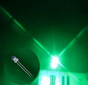 1000 X 3mm Round Green Led Superbright Bulb Lamp Light