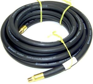 50 Ft 3 8 Continental Goodyear Air Hose For Air Compressor Black