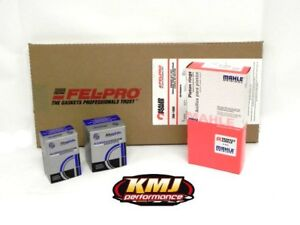 Sbc Chevy 350 Complete Re Ring Rering Overhaul Kit W Bearings Gaskets