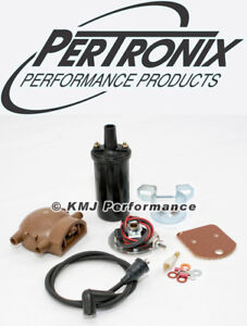 Pertronix 1247xtp6 Ignitor Ignition Ford Tractor 4cyl 6v Pos Gnd Remote Coil Kit