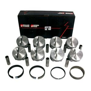 Sb Chevy Sbc 327 Flat Top Pistons Moly Rings 030